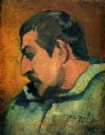 portrait paintings - self portrait by paul gauguin