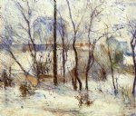paul gauguin snow at vaugirard painting