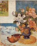 paul gauguin still life with chinese peonies and mandolin paintings