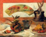 still life with fan ii by paul gauguin painting