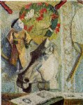 paul gauguin still life with horse s head painting