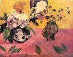 paul gauguin still life with japanese woodcut paintings
