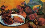 still life with mangoes by paul gauguin painting