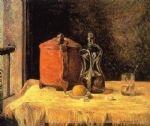 paul gauguin still life with mig and carafe paintings