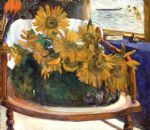 paul gauguin still life with sunflowers on an armchair paintings