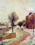 suburb under snow by paul gauguin painting