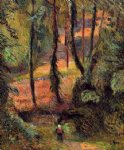 paul gauguin sunken path wooded rose painting 27465