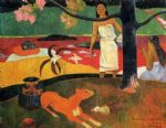tahitian pastorals by paul gauguin painting
