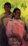 paul gauguin tahitian woman and boy paintings