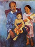 paul gauguin tahitian woman and two children paintings