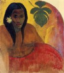 tahitian woman by paul gauguin painting