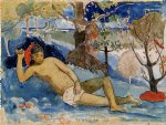 te arii vahine ii by paul gauguin painting