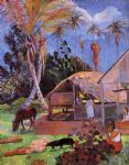paul gauguin the black pigs painting