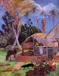 the black pigs by paul gauguin painting
