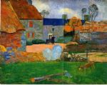 paul gauguin the blue roof painting