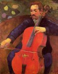 the cellist by paul gauguin painting