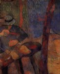 the clog maker by paul gauguin painting