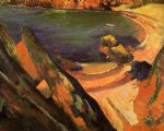 the creek le pouldu by paul gauguin painting