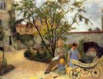 paul gauguin the family in the garden rue carcel prints