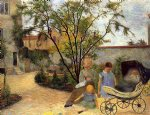 the family in the garden rue carcel by paul gauguin painting