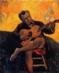 the guitar player by paul gauguin painting