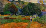 the little valley by paul gauguin painting