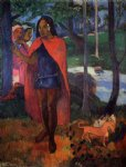 the magician of hivaoa by paul gauguin painting