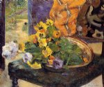 the makings of a bouquet by paul gauguin painting