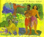 the messengers of oro by paul gauguin painting