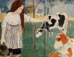 the milkmaid by paul gauguin painting