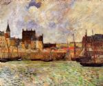 paul gauguin the port dieppe painting