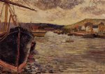the port of rouen by paul gauguin painting