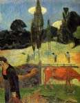 the red cow by paul gauguin painting