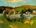 the swineheard by paul gauguin paintings-27542