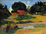 the swineherd by paul gauguin paintings-27543