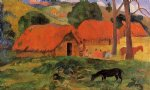 three huts tahiti by paul gauguin paintings