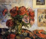 paul gauguin vase of peonies paintings