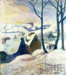 paul gauguin village in the snow posters