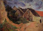 village street osny by paul gauguin paintings