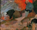 washerwomen by paul gauguin paintings