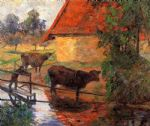 paul gauguin watering place painting