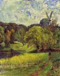 paul gauguin paintings - windmil ostervold park by paul gauguin
