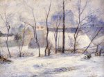 paul gauguin winter landscape effect of snow painting 27567