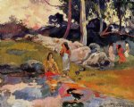 paul gauguin woman on the banks of the river oil paintings