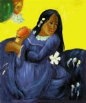 paul gauguin woman with a mango ii painting