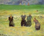 paul gauguin women bathing dieppe painting