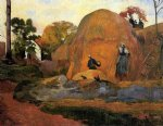 paul gauguin yellow haystacks painting