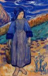 young breton by the sea by paul gauguin Painting