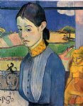 paul gauguin young breton woman painting