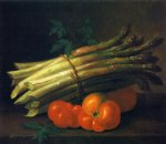 still life with asparagus and tomatoes by paul lacroix art